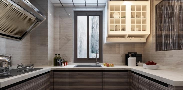 厨房 不只是柔美,刚性的线条为空间更添充实