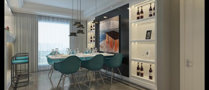 春晖家园二期143m²装修效果图, 现代又时尚!
